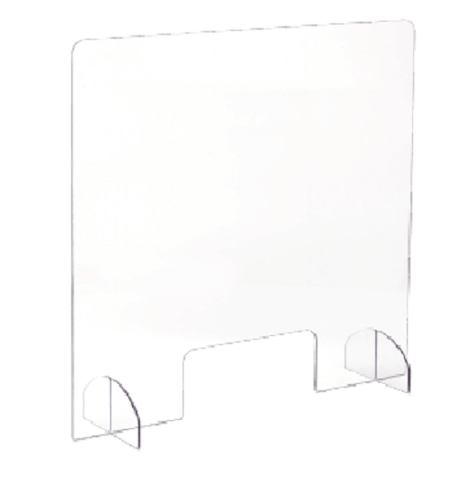 Portable All-Acrylic Sneeze Guard