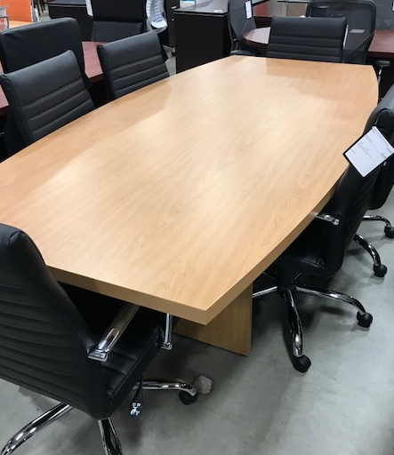 Business Furniture Warehouse PreOwned Office Furniture - Hon boat shaped conference table